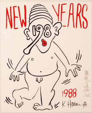 New Year's Invitation '88 (Nude)  by  Keith Haring