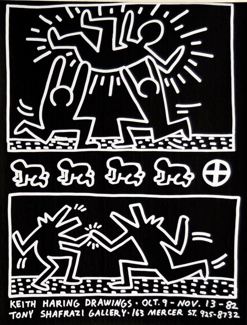 Tony Shafazi Gallery POSTER,unsigned  by Keith Haring
