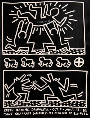 Tony Shafazi Gallery POSTER by Keith Haring