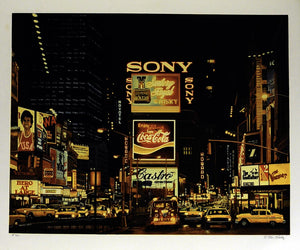 Ken Keeley Times Square Night, Changing Scene