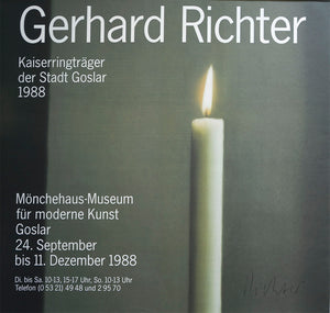 Kerze/The Candle, 1988 by Gerhard Richter