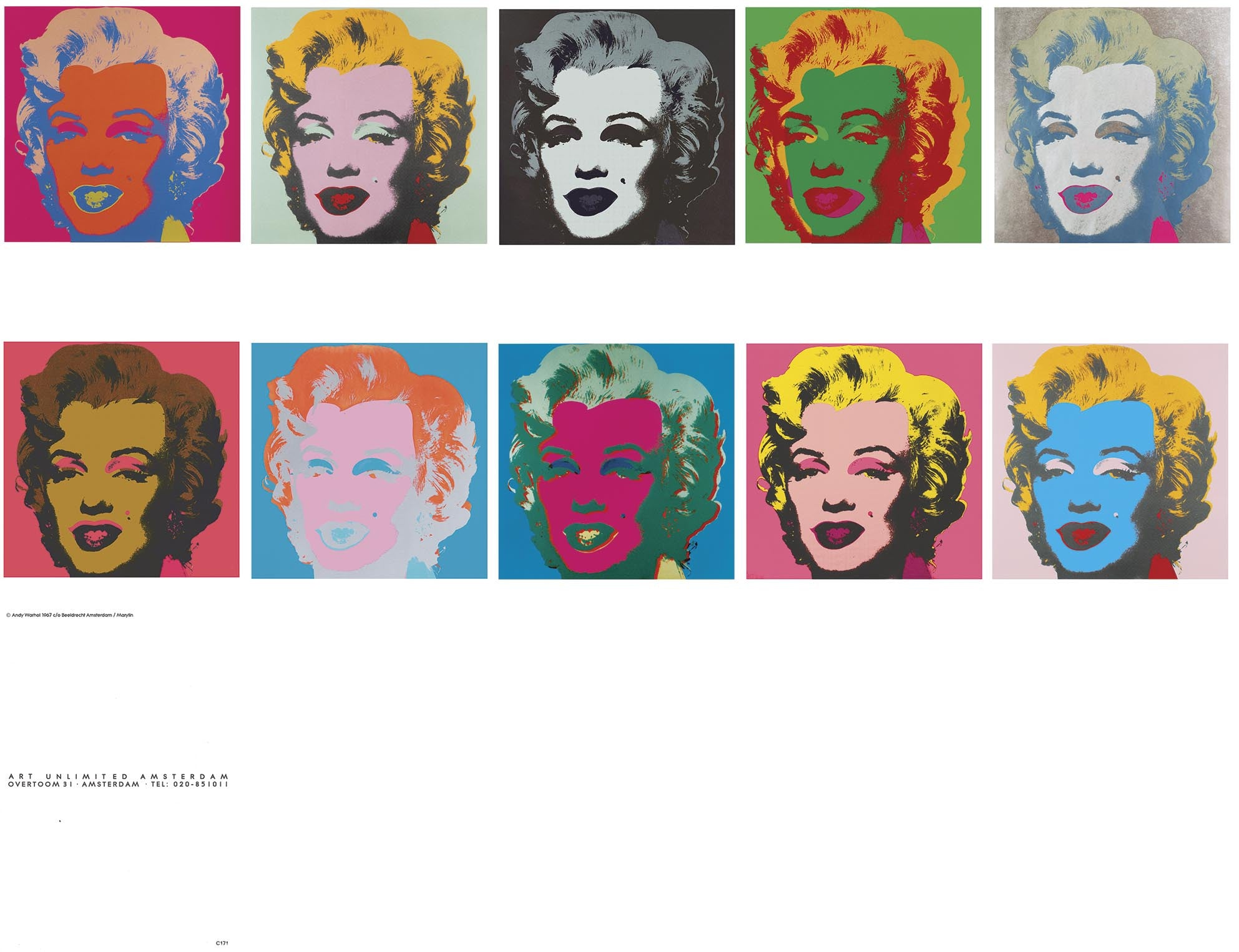 Marilyn Monroe CARDS1967 by Andy Warhol