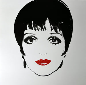 Liza Minnelli, 1976 b/w  by ANDY Warhol