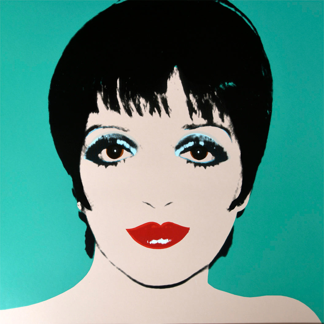 Liza Minnelli, 1976 green by ANDY Warhol