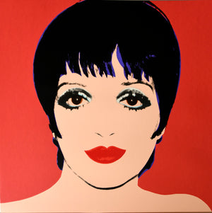 Liza Minnelli, 1976 red by ANDY Warhol