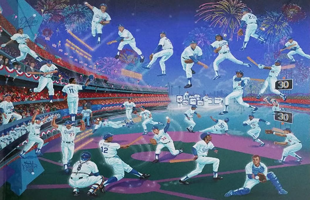 DODGER STADIUM 30 YEARS OF MEMORIES 1993 WITH REMARQUE  by Melanie Taylor Kent