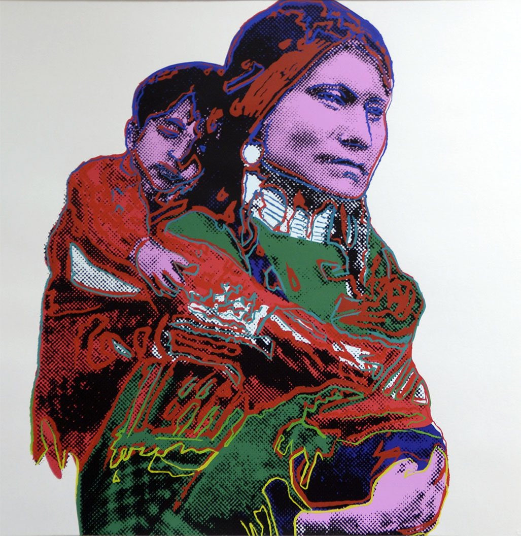 Mother and Child, from Cowboys and Indians, 1986 by ANDY Warhol