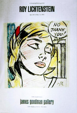 A Drawing Retrospective, (No Thank you)  by  ROY LICHTENSTEIN
