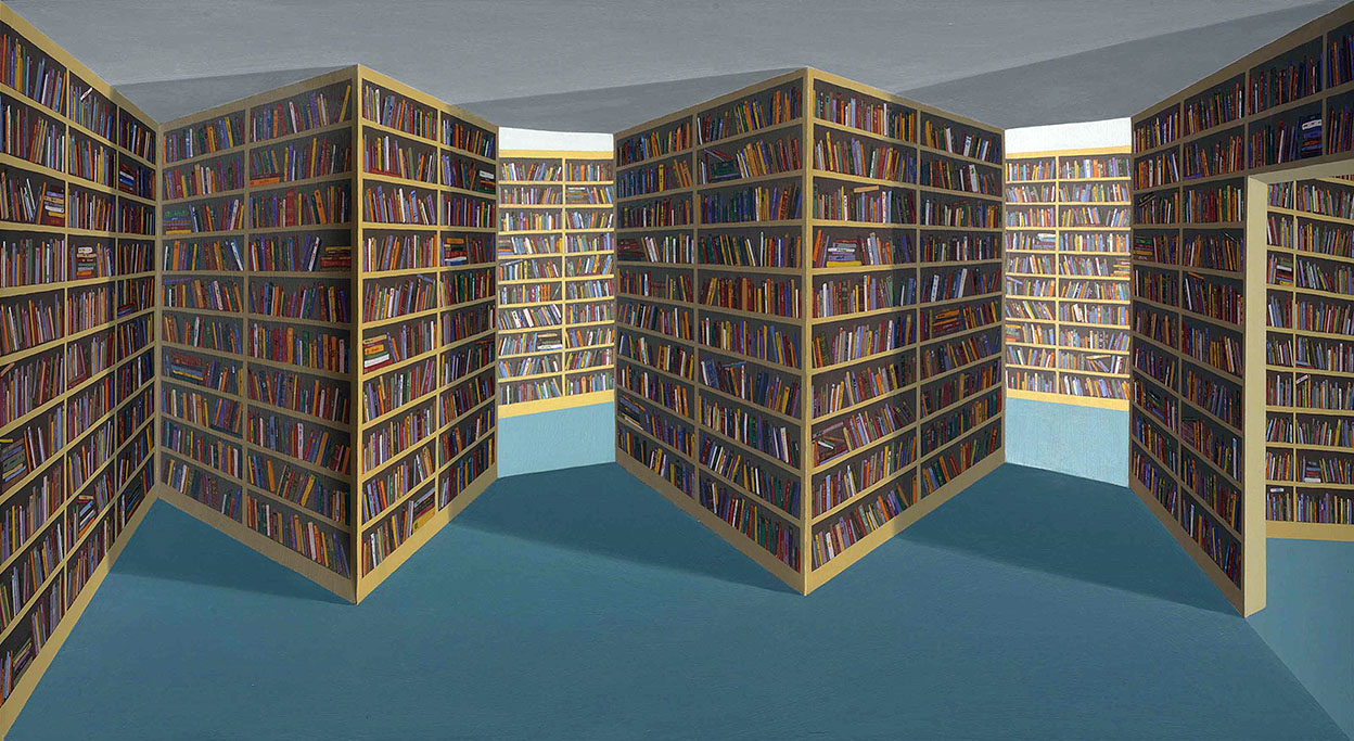 Fiction Section, 1994. 3D Picture by Patrick Hughes