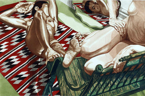 Models with Mirror 1985 by Philip Pearlstein