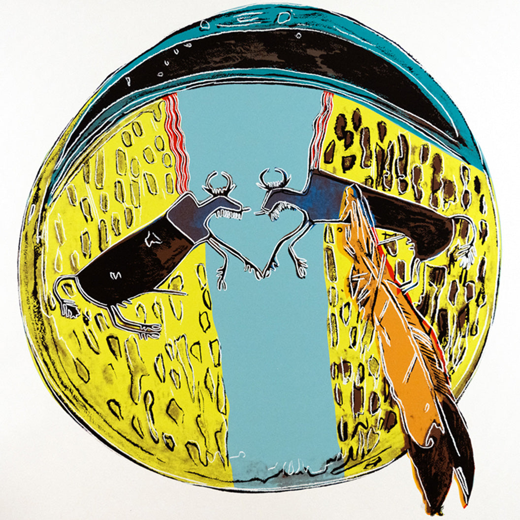 Plains Indian Shield, from Cowboys and Indians, 1986 by ANDY Warhol