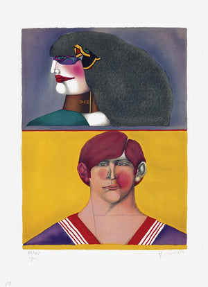 RICHARD LINDNER     Front and profil