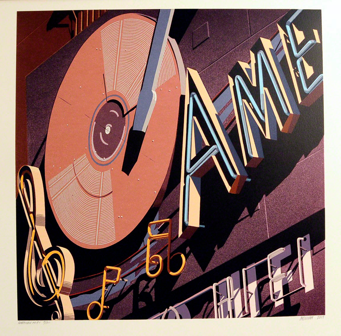 American Signs AME by Robert Cottingham