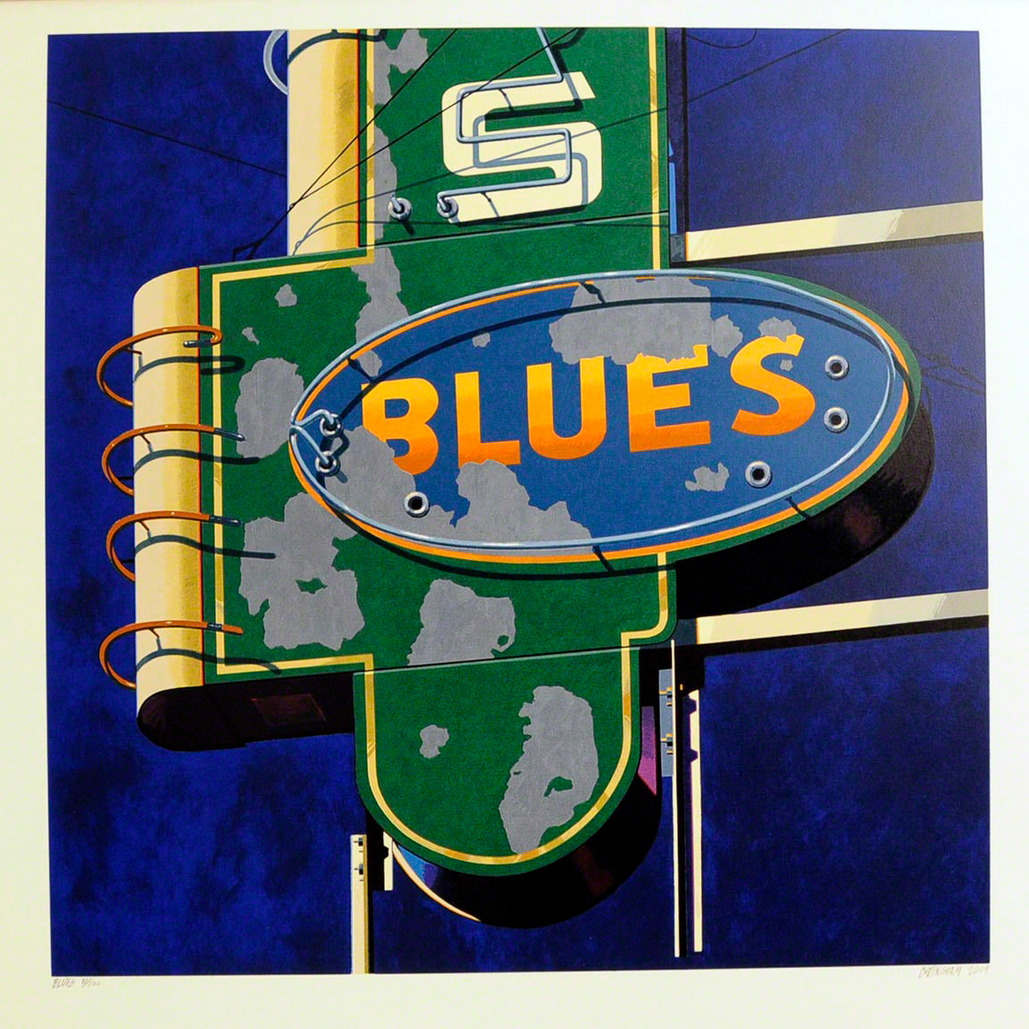 American Signs BLUES by Robert Cottingham