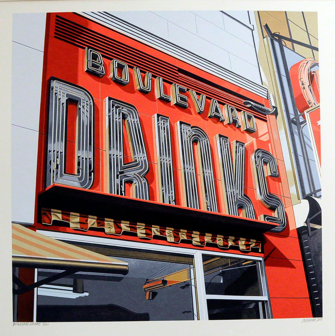 American Signs BOULEVARD DRINKS by Robert Cottingham
