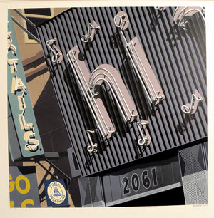 American Signs HI by Robert Cottingham