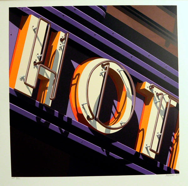 American Signs HOT by Robert Cottingham