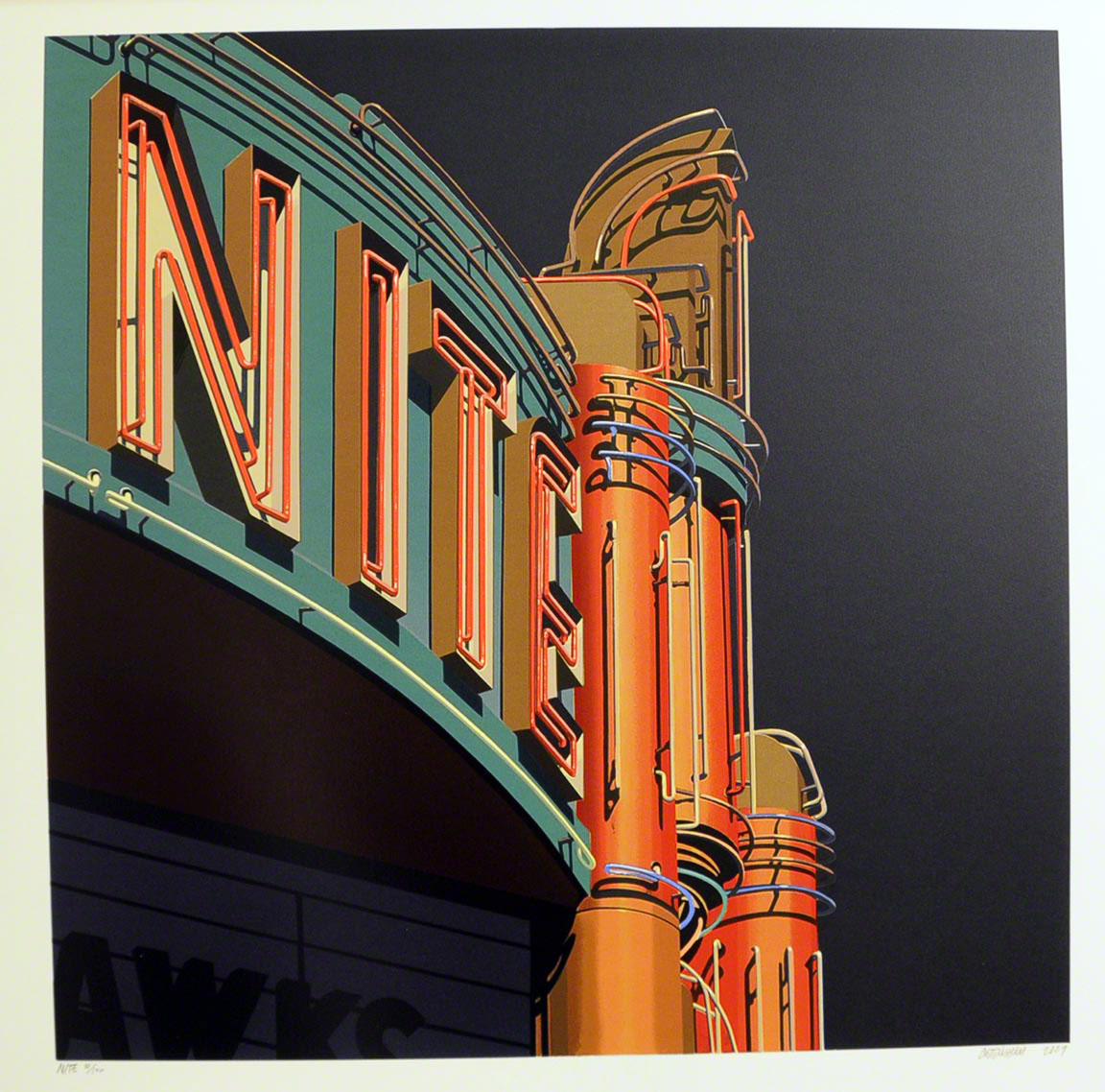 American Signs NITE by Robert Cottingham
