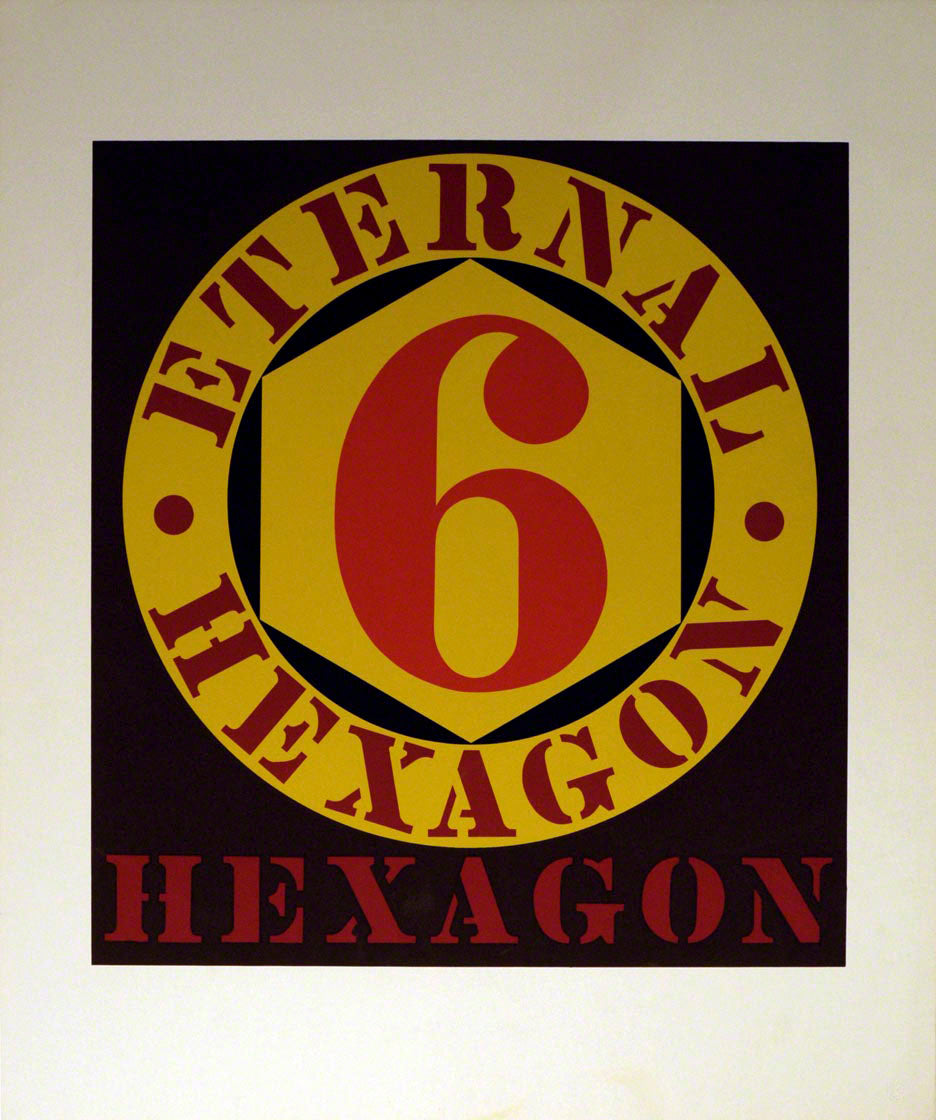 Eternal Hexagon by Robert Indiana