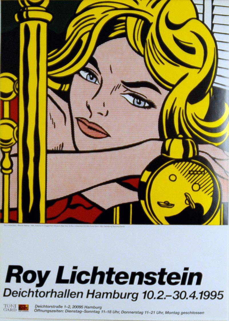 Blonde waiting POSTER by ROY LICHTENSTEIN – Edward Kurstak Fine ...