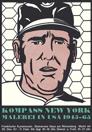 ROY LICHTENSTEIN  Baseball Manager Poster,unsigned