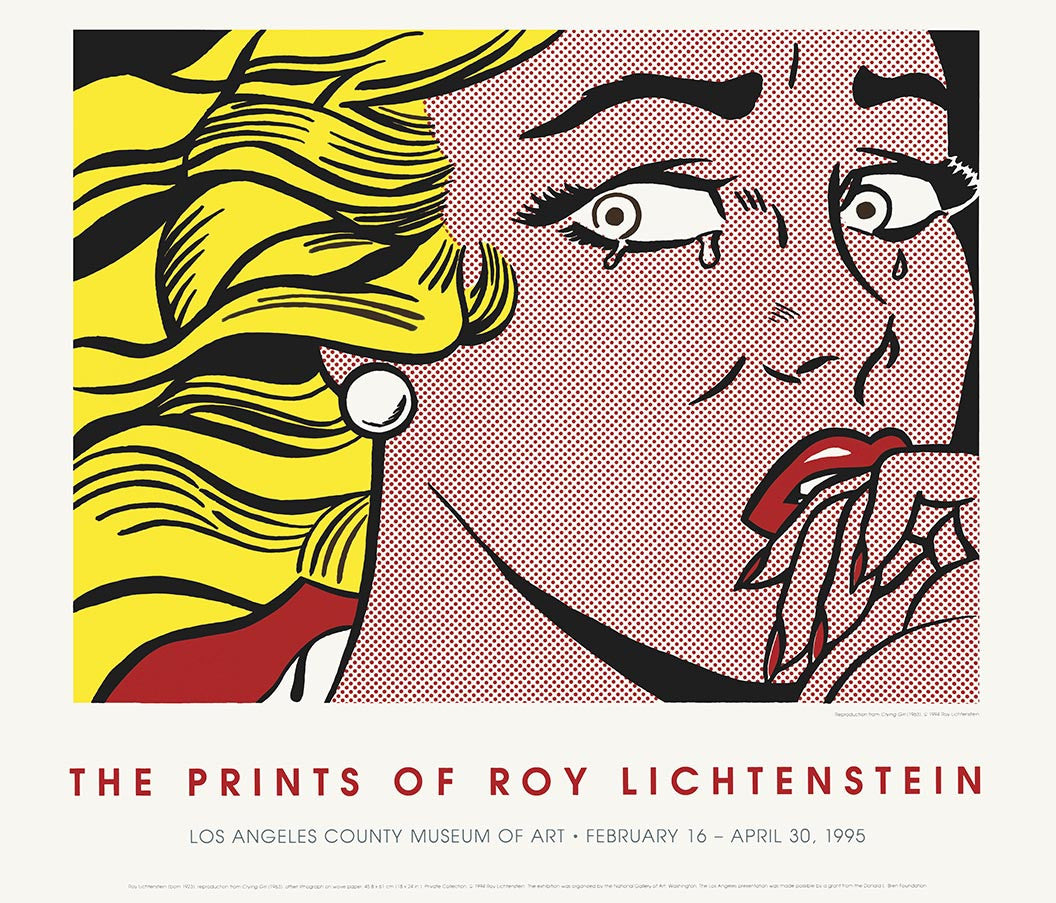 ROY LICHTENSTEIN  CRYING GIRL L.A,unsigned