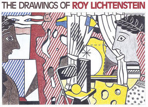 ROY LICHTENSTEIN DRAWING POSTER,unsigned