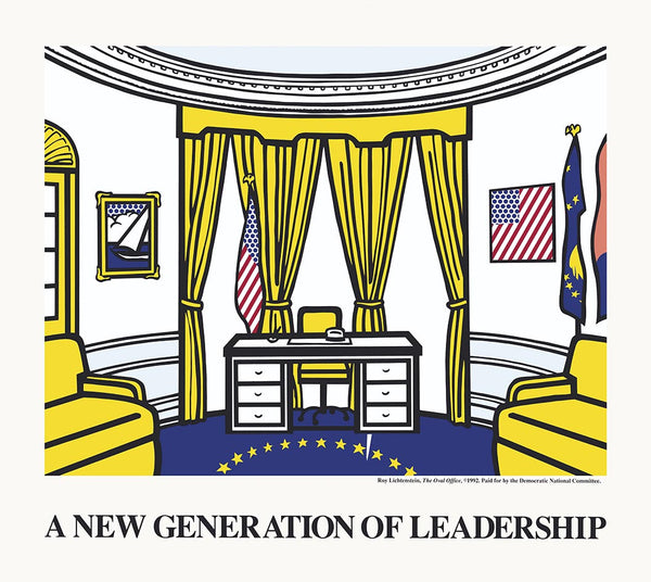 ROY LICHTENSTEIN OVAL OFFICE NEW LEADERSHIP,unsigned