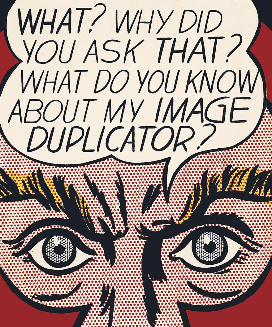 ROY LICHTENSTEIN duplicator,unsigned