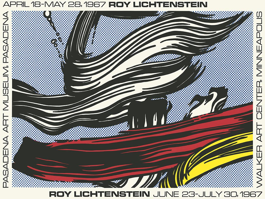 ROY LICHTENSTEIN passadena text aussen,unsigned