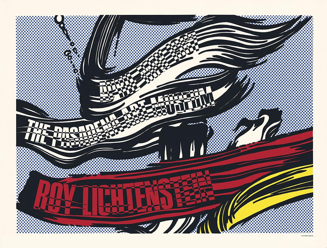 ROY LICHTENSTEIN passadena text innen,unsigned