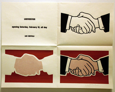 ROY LICHTENSTEIN shakehands up