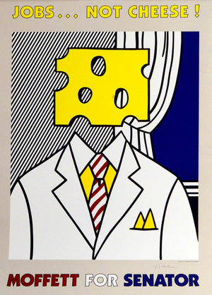Jobs.. Not Cheese Poster by Roy Lichtenstein