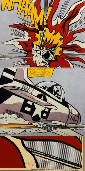 WHAAM  by  ROY LICHTENSTEIN