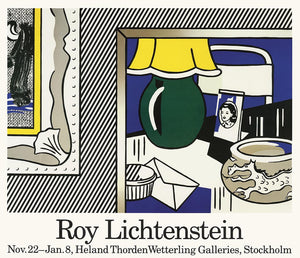 Two Paintings POSTER by Roy Lichtenstein