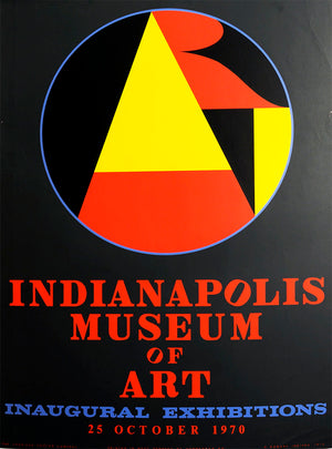 Indianapolis Museum of Art Poster 1970 by Robert Indiana