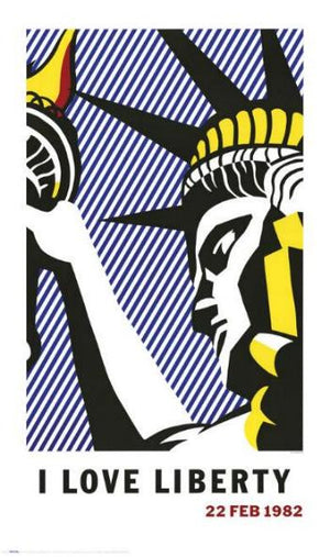 Roy Lichtenstein I LOVE LIBERTY 1982