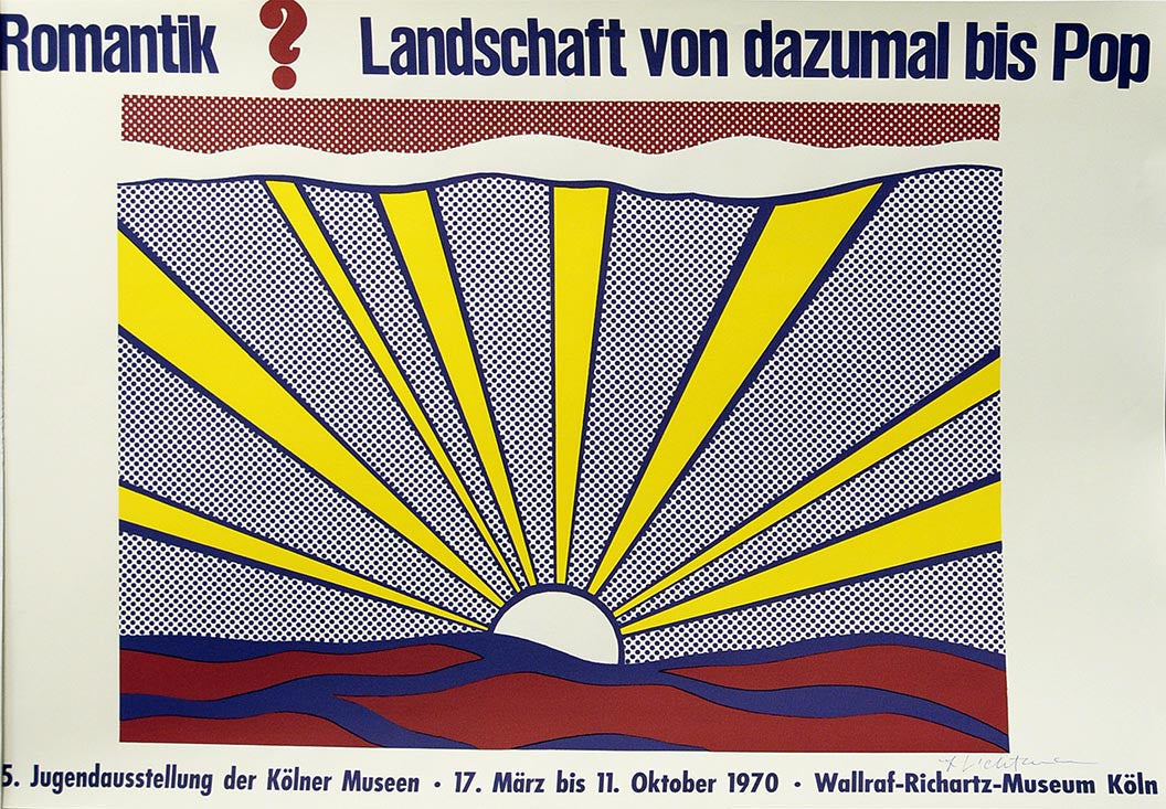 Roy Lichtenstein SUNRISE Poster signed