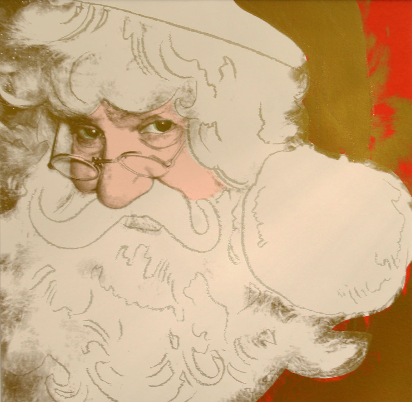 Santa Claus from Myths Portfolio by ANDY Warhol