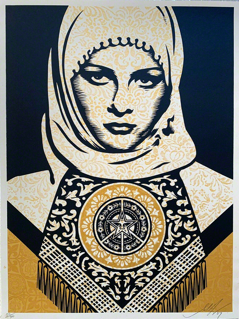 Arab Woman Gold  by Frank Shepard Fairey (Obey)