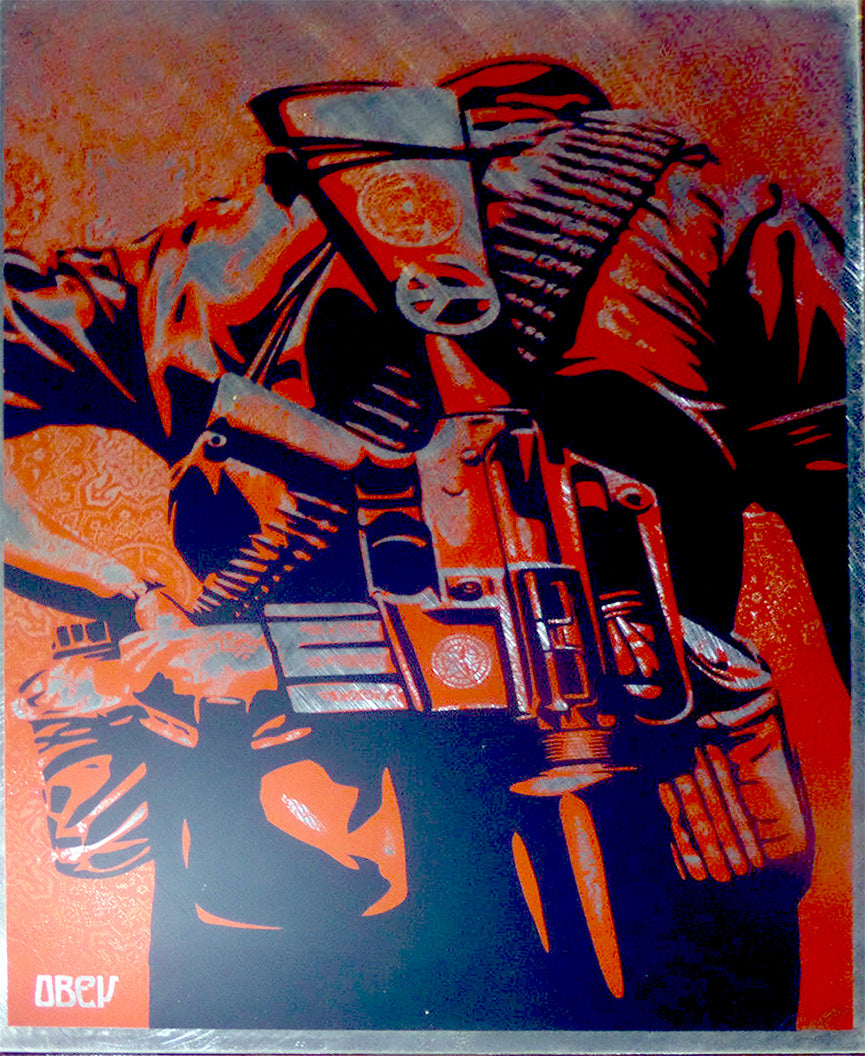 DUALITY OF HUMANITY 3 on Metal by Frank Shepard Fairey (Obey)
