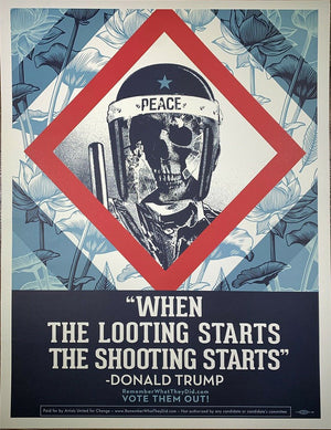 When The Looting.......      by Frank Shepard Fairey (Obey)