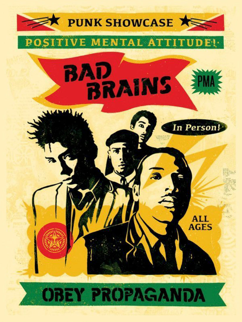 Bad Brains Rasta  by Frank Shepard Fairey (Obey)