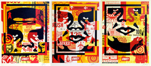 3 Face Collage by Frank Shepard Fairey (Obey)