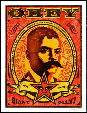 ZAPATA (RED) 2020 by Frank Shepard Fairey (Obey)