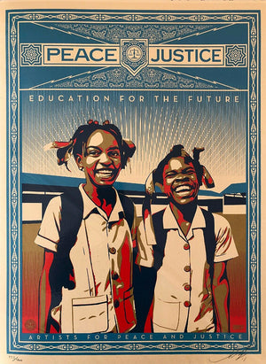 Peace and Justice   by Frank Shepard Fairey (Obey)