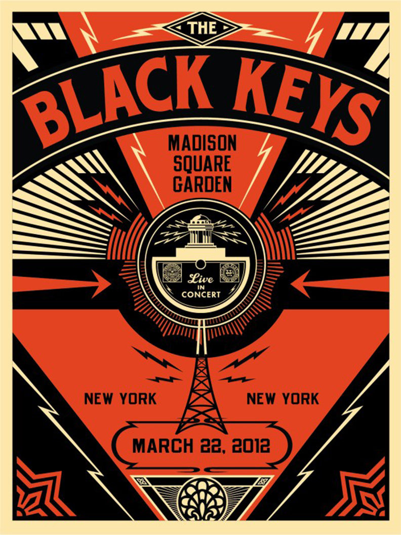 BLACK KEYS LIVE by Frank Shepard Fairey (Obey)