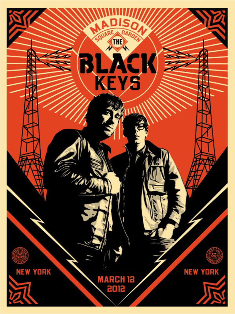 BLACK KEYS PORTRAIT by Frank Shepard Fairey (Obey)