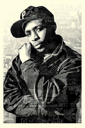 CHUCK D BLACK STEEL LARGE SCREEN PRINT (BLACK) by Frank Shepard Fairey (Obey)