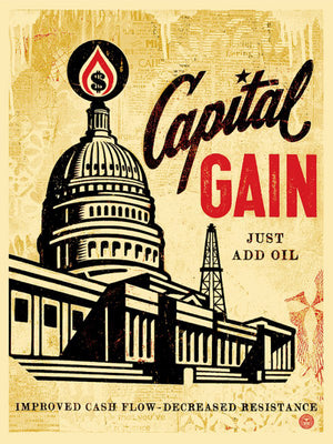 CAPITAL GAIN by Frank Shepard Fairey (Obey)